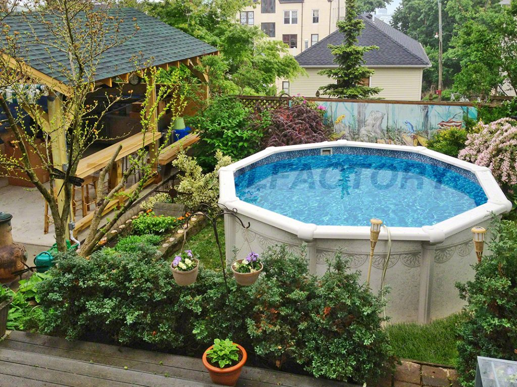 Above Ground Pool Planting