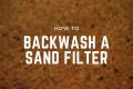 backwash sand filter