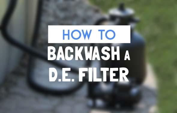 Backwash A DE Filter