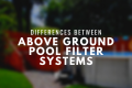 Above Ground Pool Filter Systems