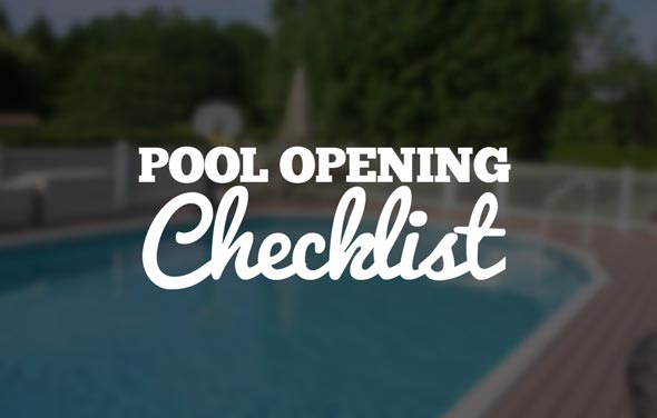 Pool Opening Checklist