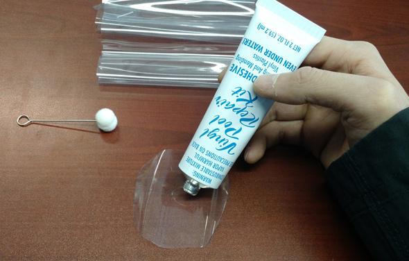 Hydrotools vinyl repair kit installation instructions step 3