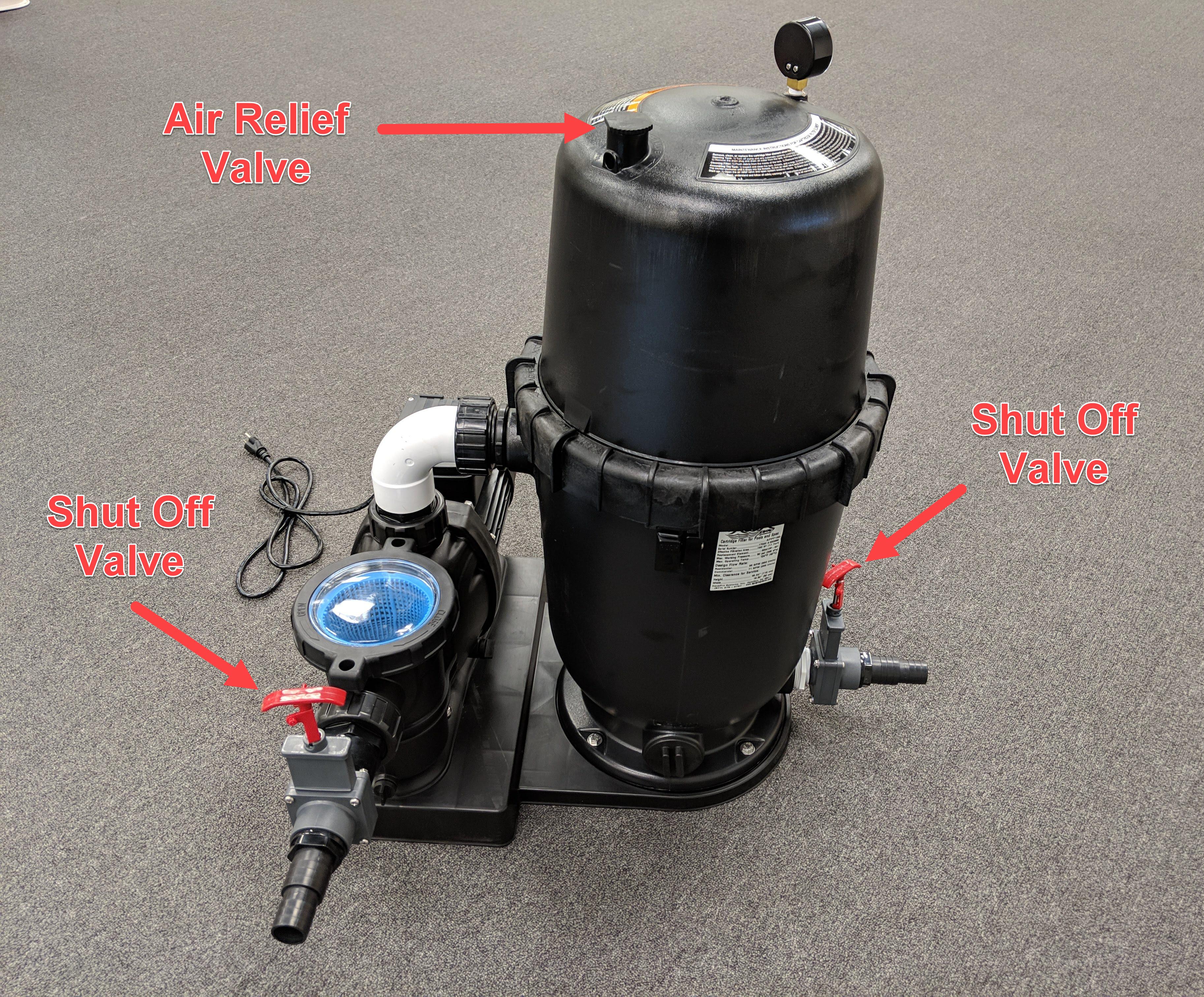 air relief valve aquapro cartridge