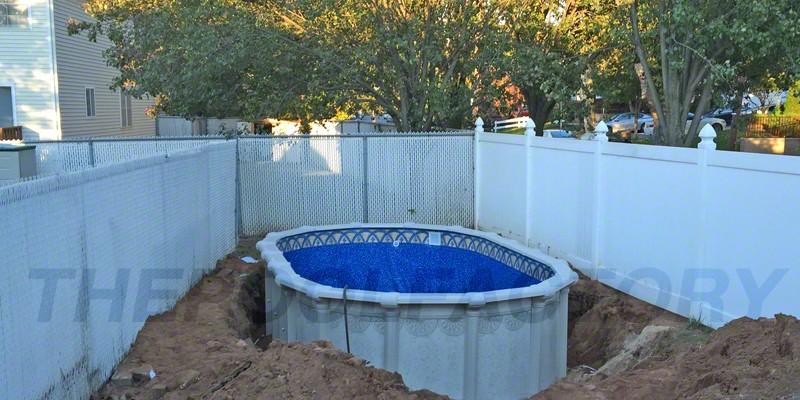 ... Hampton Semi Inground Pool Installation
