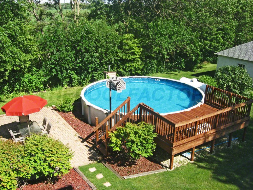 above ground pool deck for the backyard | Pool Deck Ideas (Partial Deck) - The Pool Factory